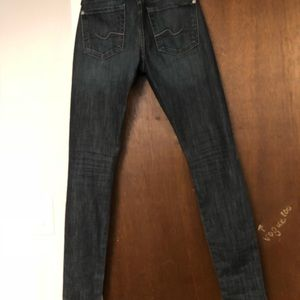 Seven for All Mankind skinny jeans, very dark wash